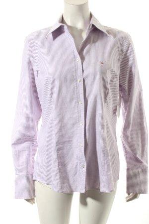 Gant Langarm-Bluse blasslila-weiß Streifenmuster Casual-Look