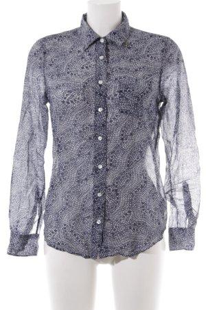 Gant Langarm-Bluse dunkelblau-weiß schlichter Stil