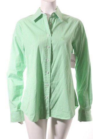 Gant Langarm-Bluse hellgrün-weiß Karomuster Casual-Look