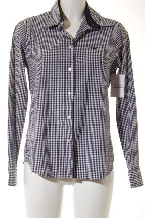 Gant Langarm-Bluse schwarz-weiß Karomuster Casual-Look