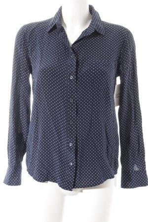 Gant Langarm-Bluse weiß-blau Sternenmuster Casual-Look