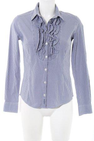 Gant Langarmhemd blau-weiß Allover-Druck Business-Look