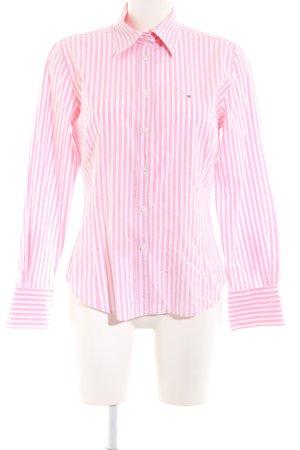 Gant Langarmhemd pink-weiß Streifenmuster Casual-Look