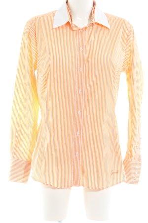 Gant Langarmhemd hellorange-weiß Streifenmuster Business-Look