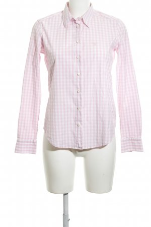 Gant Langarmhemd weiß-pink Karomuster klassischer Stil