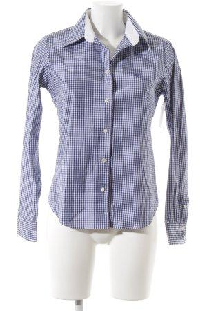 Gant Langarmhemd blau-weiß Karomuster klassischer Stil