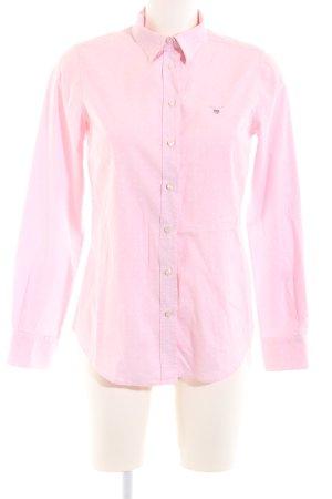 Gant Langarmhemd pink Punktemuster Business-Look