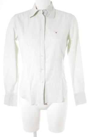 Gant Camisa de manga larga verde grisáceo-blanco estampado a rayas