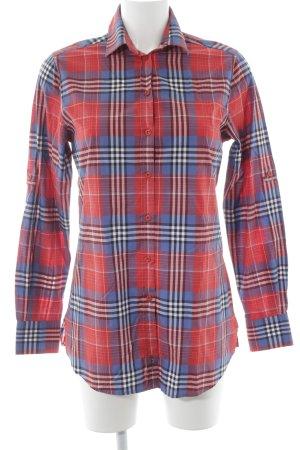 Gant Shirt met lange mouwen geruite print atletische stijl