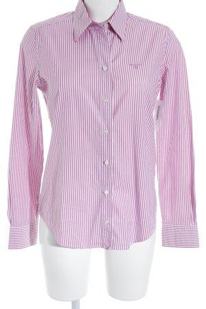 Gant Langarmhemd magenta-weiß Streifenmuster Business-Look