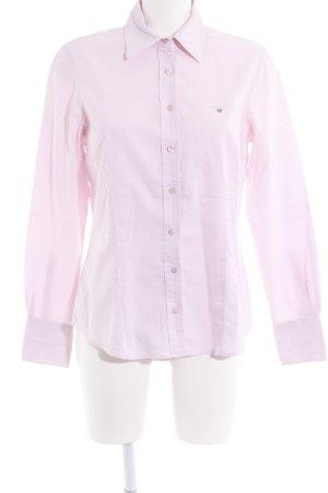 Gant Langarmhemd rosa Schriftzug gestickt Casual-Look