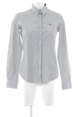 Gant Langarmhemd taupe-weiß Streifenmuster Business-Look