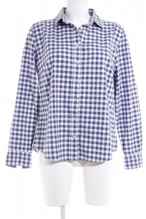 Gant Long Sleeve Shirt white-blue check pattern casual look