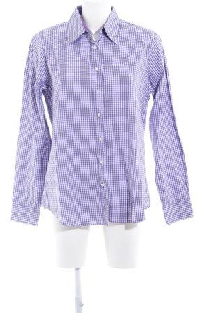 Gant Langarmhemd weiß-blauviolett Karomuster Business-Look