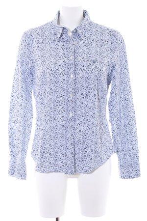 Gant Langarmhemd weiß-dunkelblau Blumenmuster Elegant