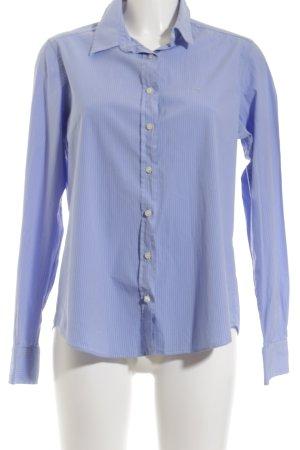 Gant Langarmhemd weiß-himmelblau Nadelstreifen Casual-Look