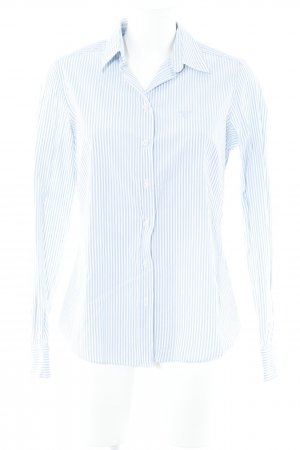 Gant Long Sleeve Shirt white-azure striped pattern business style