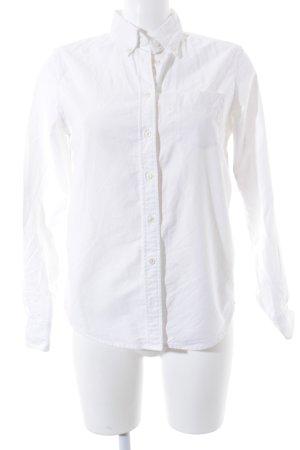 Gant Langarmhemd weiß klassischer Stil