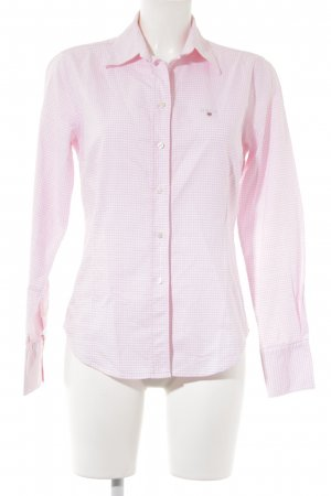 Gant Long Sleeve Shirt white-pink embroidered lettering business style