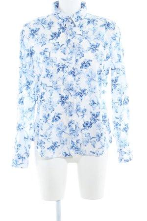 Gant Langarmhemd wollweiß-blau Blumenmuster Casual-Look