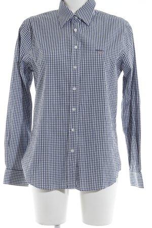 Gant Langarmhemd wollweiß-dunkelblau Karomuster Country-Look