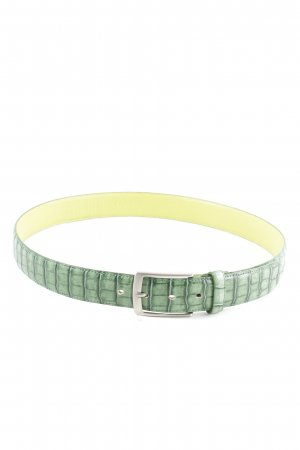 Gant Cintura di pelle verde-giallo pallido stampa integrale stile casual