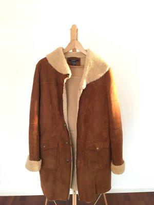 Gant Leren jas cognac-bruin