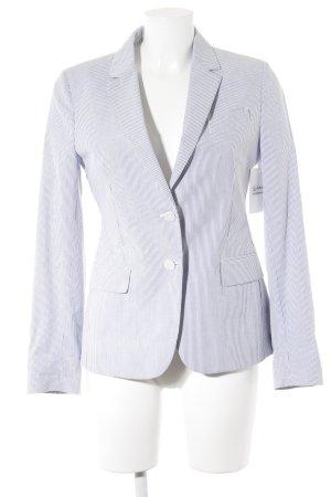 Gant Long-Blazer weiß-himmelblau Streifenmuster Business-Look