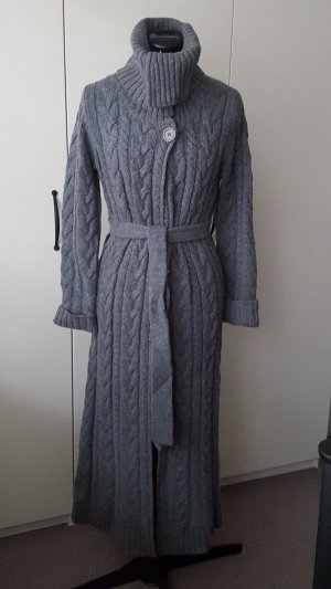 GANT long cardigan, in gray color, second-hand, with long neck and cord