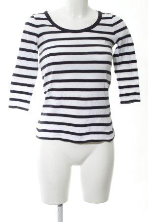 Gant Longsleeve weiß-schwarz Streifenmuster Casual-Look
