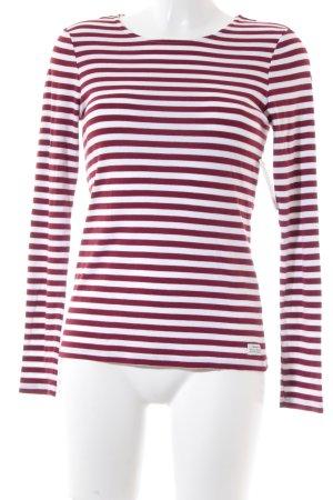 Gant Longsleeve weiß-rot Streifenmuster klassischer Stil