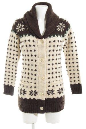 Gant Cárdigan de estilo noruego blanco puro-marrón Mezcla de patrones
