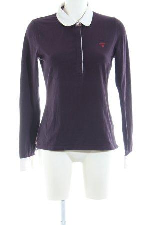 Gant Polo Shirt lilac-white casual look