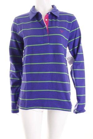 Gant Polo-Shirt blauviolett-wiesengrün Streifenmuster Casual-Look