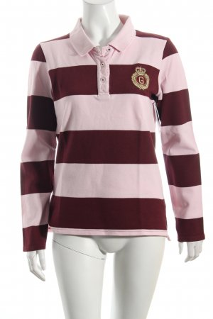 Gant Polo-Shirt hellrosa-dunkelrot Streifenmuster sportlicher Stil