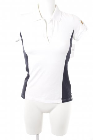 Gant Polo Shirt white-dark blue athletic style