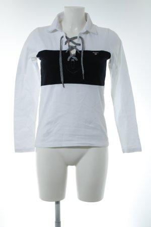 Gant Polo-Shirt weiß-dunkelblau sportlicher Stil
