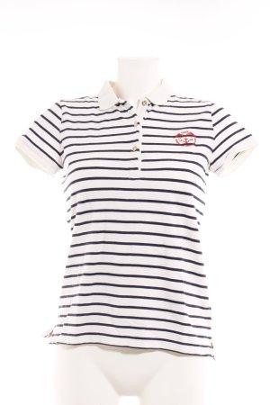 Gant Polo-Shirt weiß-dunkelblau Streifenmuster Marine-Look