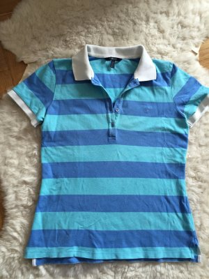 Gant Polohemd gestreift blau M 38 40 36 Baumwolle stretchig