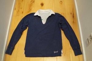 Gant Long Sleeve Shirt dark blue-silver-colored
