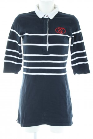 Gant Polo Dress blue-white striped pattern casual look