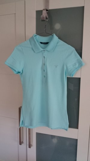 GANT Poloshirt Damen hellblau türkis blau Gr. XS Wie Neu (UVP: 69,90 €)
