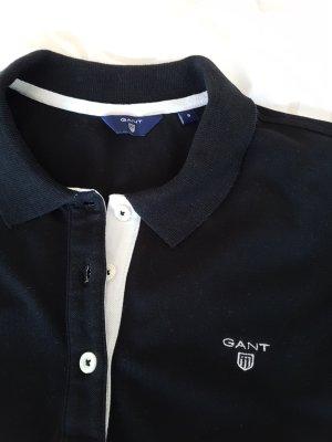 Gant Camiseta tipo polo blanco-negro Algodón