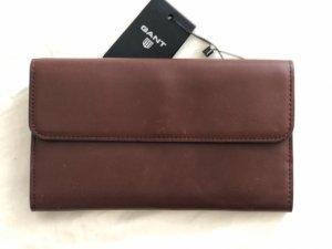 Gant Wallet brown red-bordeaux leather