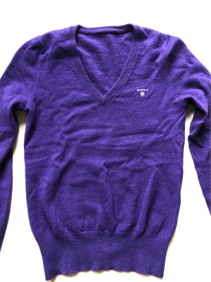 Gant Maglione di lana viola scuro