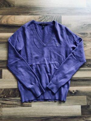 Gant Pull col en V bleu violet laine