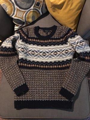 Gant Pullover Strick Lammwolle wolle Luxus S blau bunt
