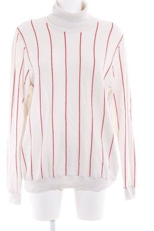 Gant Turtleneck Sweater oatmeal-red striped pattern casual look