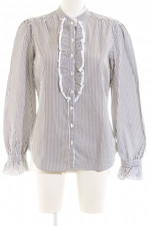 Gant Ruffled Blouse white-light grey striped pattern casual look