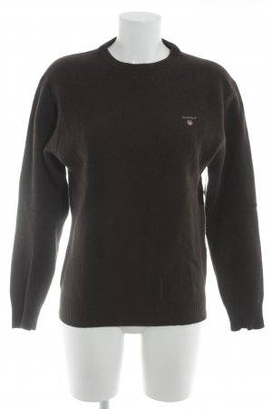 Gant Crewneck Sweater dark brown simple style